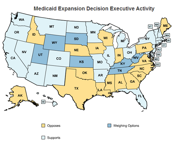 State by State Guide to Medicaid Expansion