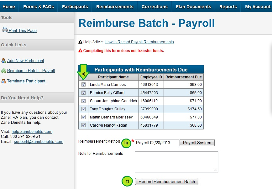 HRA105_Record_Reimbursement_Payroll