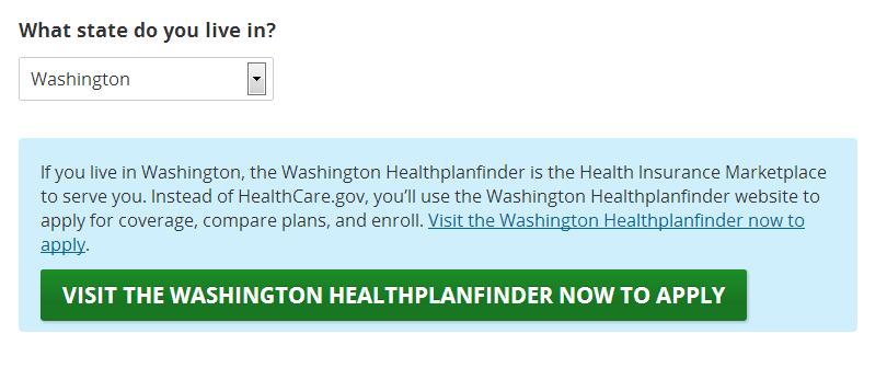 health insurance estimator washington state