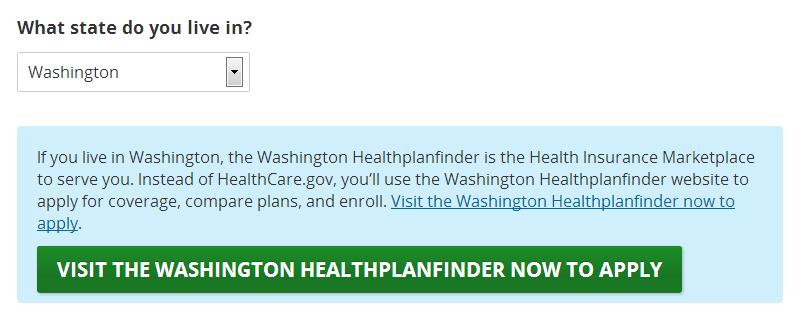 health insurance estimator washington state
