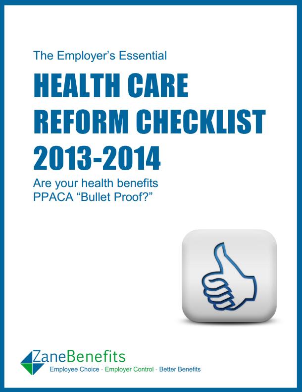 healthcare reform checklist, employer health reform checklist, compliance checklist