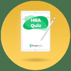 HRA Quiz, health reimbursement arrangement