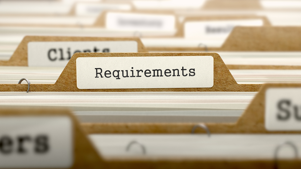 Requirements Concept. Word on Folder Register of Card Index. Selective Focus.-1