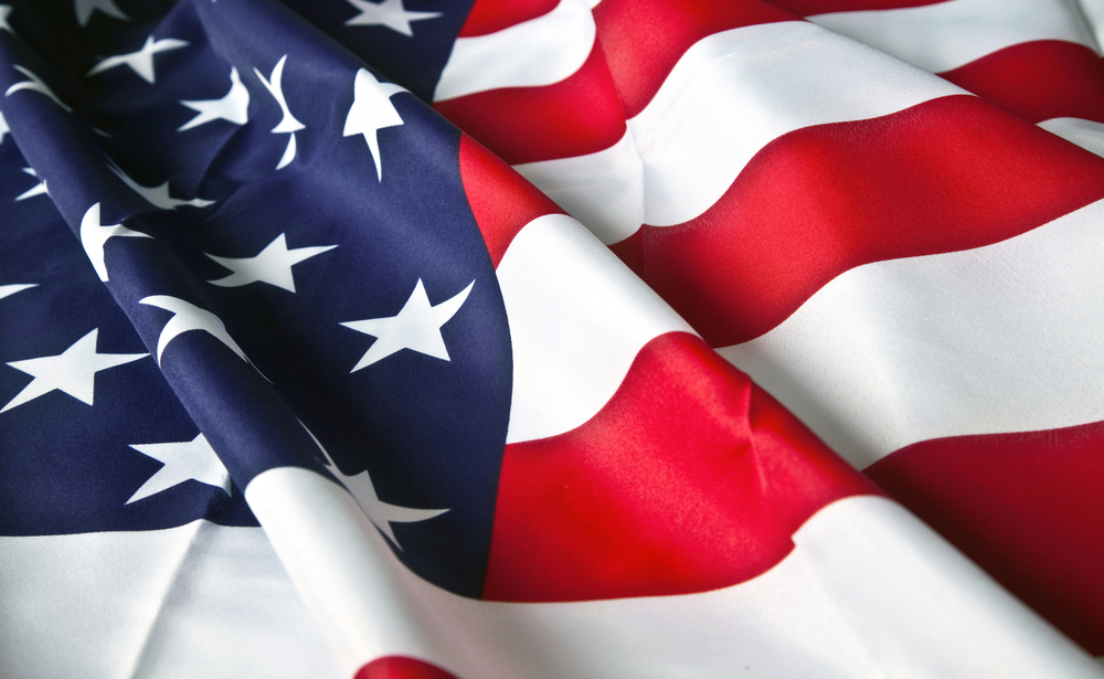 picture of the American flag with wavy texture