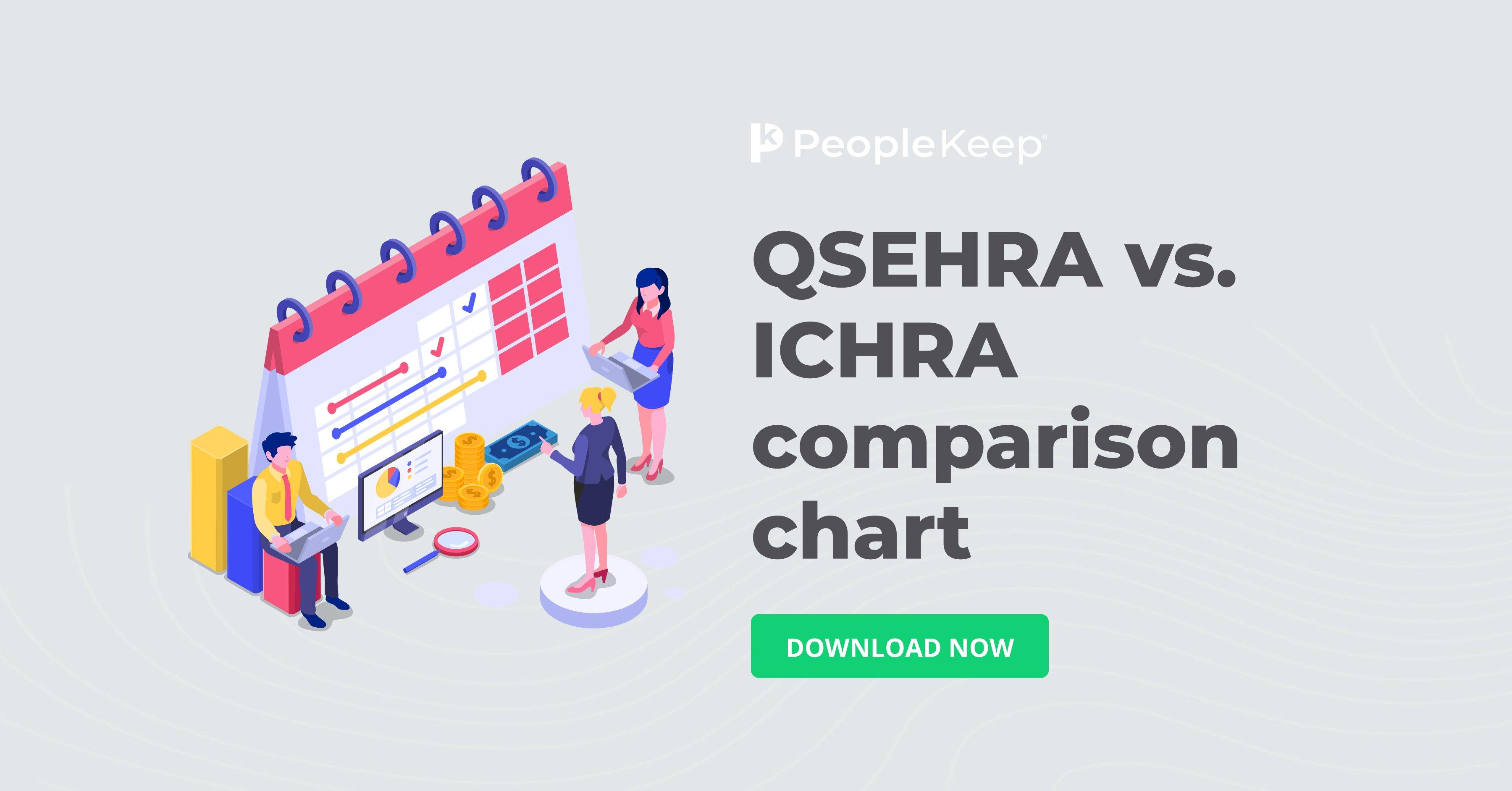 qsehra vs ichra comparison chart_fb